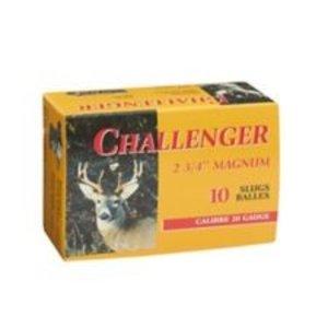 """Challenger Challenger 20 Gauge (2-3/4"""" Magnum 7/8oz Slugs)"""