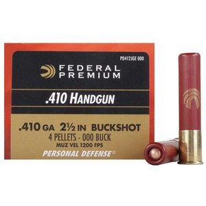 "Federal Federal Premium Personal Defense 410 (Handgun 2-1/2"" OOO Buckshot)"