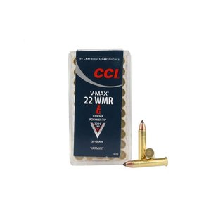 CCI/Speer CCI V-MAX 22 WMR 30 Grain Polymer Tip (50 rounds)