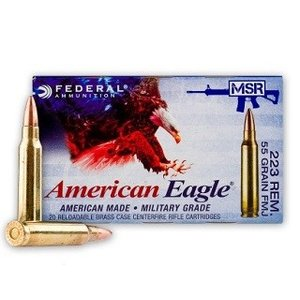 Federal American Eagle MSR .223 REM (FMJ 55 Grain) 20 Rds.