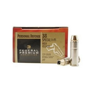 Federal Federal Premium 38 Special +P (129 Grain Hydra-Shok JHP) 20 rds.