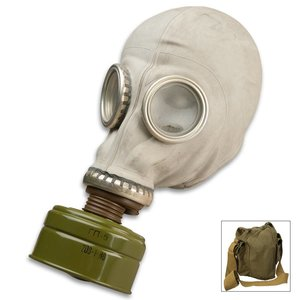 Russian Military Surplus Russian Gas Mask with Filter & Bag