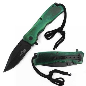 Duck Green Wood Assist Open Knife (DK0411-GPW)