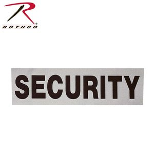 "Rothco Security Relfective Patch (12"" x 3.5"")"