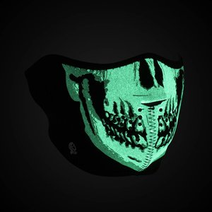Zan Zan GLOW in The Dark Half Mask (Skull)
