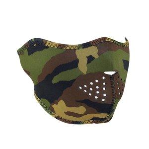 Zan Zan Neoprene Half Mask (Woodland Camo)