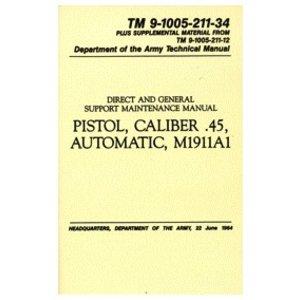 .45 AUTO Pistol (M1911A1) Manual