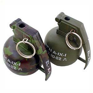 Hand Grenade Lighter - Olive Drab (With Sound)