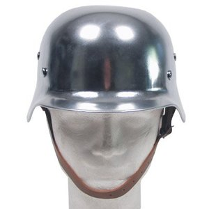 SGS WW2 German Replica Helmet Chromed