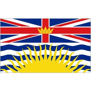 Poco Military BC Flag Vinyl Decal / Sticker (British Columbia)