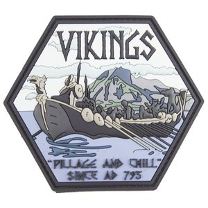 PatchPanel Vikings Pillage and Chill PVC Patch