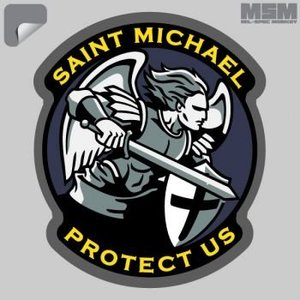 Milspec Monkey Modern Saint MIchael Decal
