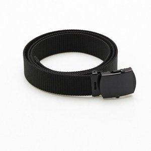 Mil-Spex Black Military Dress / Web Belt (w/ Black Metal Buckle)
