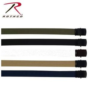 "Rothco Rothco Navy Blue Military Web Belt 54"" (w/ Black Metal Buckle)"