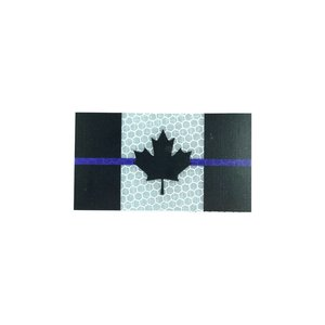 PatchPanel Blue Line Canada Flag - Grey - Hi Viz Patch