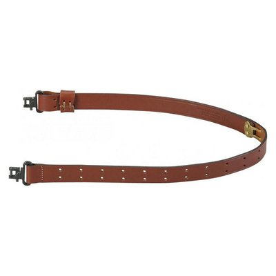 Levy's Leathers Levy's Walnut Military Leather Sling A1 with Swivels (T1C-WAL)