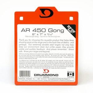 "Drummond Shooting Drummond AR450 Target Gong (6"" x 7"" x 3/16"") Pistol Caliber"