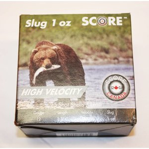 "Score Score High Velocity 12 Gauge 2-3/4"" 1 Oz Slugs"