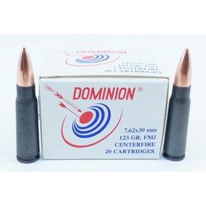 Dominion SKS 7.62x39mm -20 rds. - (123 Grain FMJ) (Non-Corrosive)