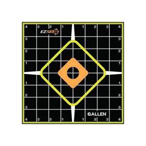 Allen Company Allen ezSee Adhesive Grid Target Pack of 5 - 8x8 inch (#15223)