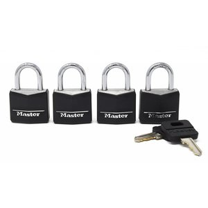 Master Lock Master Lock 131Q 4 locks in pack 1 3/16""