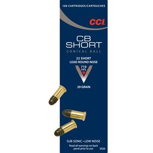 CCI/Speer CCI CB 22 Short 29 Grain Lead Round Nose (#26)