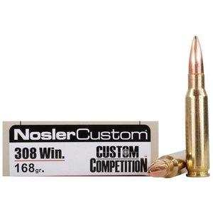 Nosler Match Grade .308 Winchester (168 Grain) Custom Competition HPBT (#60054)