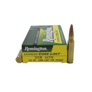Remington Remington Core-Lokt 308 Winchester 180 Grain PSP (#R308W3)