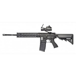G&G Airsoft G&G CM16 R8 Airsoft Rifle - Black (w/ Red Dot, Combo Kit)