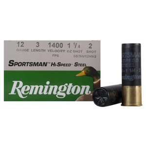"Remington Remington Sportsman Hi-Speed Steel 12 Gauge 3"" #2 Shot (20989)"