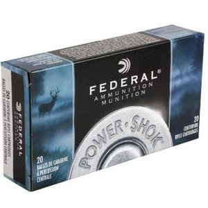 Federal Federal Power-Shok 338 Winchester Magnum 225 Grain SP #338ESC