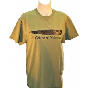 Poco Miltary 50 Cal 671 Grains of Diplomacy T-Shirt