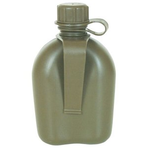 Fox Outdoors 1 Quart Plastic Canteen with Belt Clip Olive Drab (BPA Free) (New)