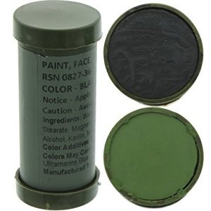World Famous Black & Olive Drab Face Paint Stick (#2332)