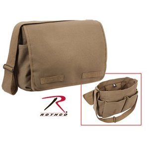 Rothco Rothco Vintage Shoulder Messenger Bag (Mocha Tan) #9751