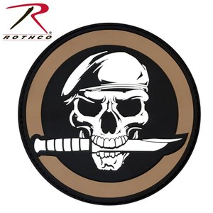 Poco Miltary Special Forces Skull Patch PVC (Velcro)