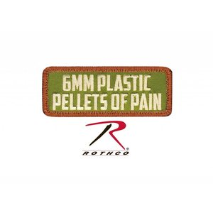 Rothco 6mm Plastic Pellets of Pain Patch (Velcro)
