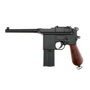 Gletcher M712 Broomhandle BB Hand Gun Blowback Gletcher