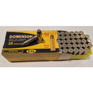 Dominion Cartridge Company CIL Dominion 38 Special Ammunition (Vintage) 50 Rounds