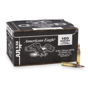 American Eagle American Eagle 5.56x45mm - 55 Grain FMJ (Box of 150Rds)