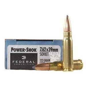 Federal Federal 7.62x39MM (20 Rds) Power Shok (76239B)