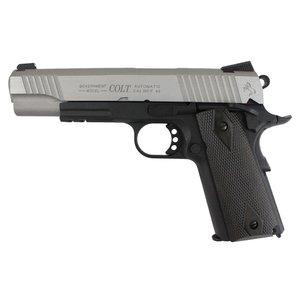 Cybergun Colt 1911 Rail Gun - Silver/Black (Airsoft Pistol Co2) Cybergun #180531