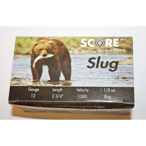 "Score Score 12 Gauge 2-3/4""  1-1/8oz Slugs (10 Shells)"