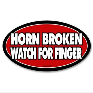 Jailbird Horn Broken Watch For Finger (Oval Sticker)