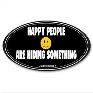 Jailbird Happy People Are Hiding (Oval Sticker)