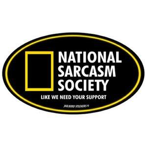Jailbird National Sarcasm Society (Oval Sticker)