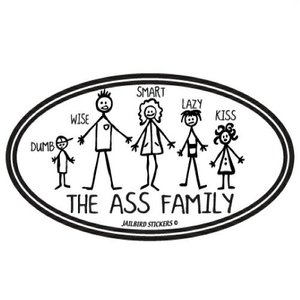 Jailbird The Ass Family (Oval Sticker)