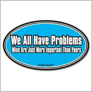Jailbird We All Have Problems (Oval Sticker)
