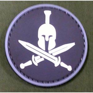 Spartan Helmet PVC Patch - Round