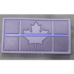 Thin Blue Line Canadian Flag PVC Patch - Subdued
